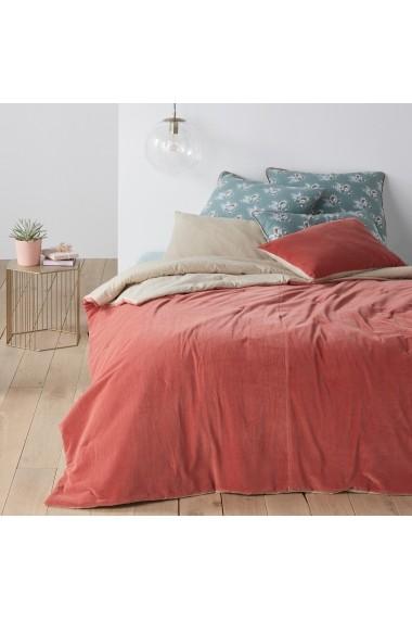 Cuvertura de pat Velvet La Redoute Interieurs GEY186 180x230 cm roz