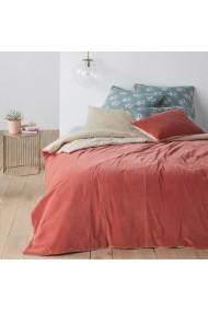 Cuvertura de pat Velvet La Redoute Interieurs GEY186 230x250 cm roz