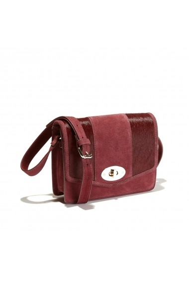 Geanta de mana La Redoute Collections GEY548 bordo