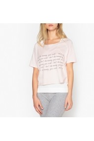 Bluza de pijama La Redoute Collections GEY584 roz