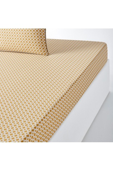 Cearsaf Mashita La Redoute Interieurs GEZ341 180x200 cm galben