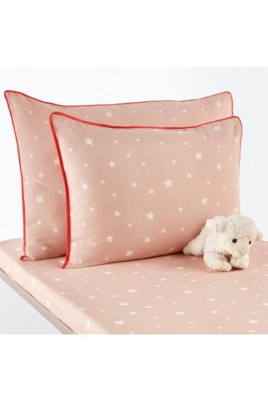 Set 2 fete de perna Etoiles La Redoute Interieurs GEZ714 35x45 cm roz