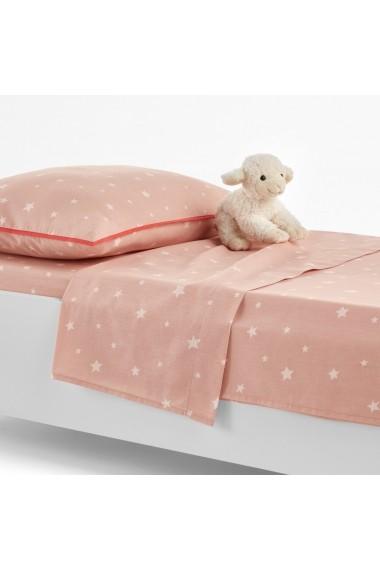 Cearsaf Etoiles La Redoute Interieurs GEZ717 80x110 cm roz