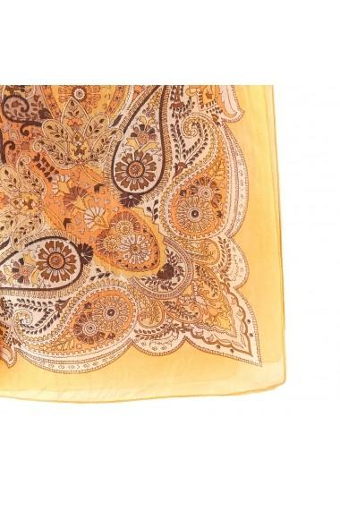 Esarfa din matase La Redoute Collections GFA132 galben