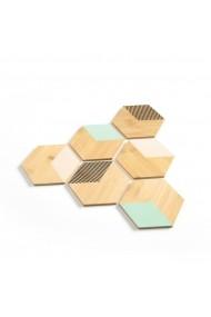 Set 6 suporturi din lemn pentru pahare Ogomi La Redoute Interieurs GFA593 multicolor