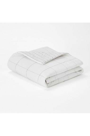 Cuvertura de pat Uzes La Redoute Interieurs GFA862 150x150 cm alb