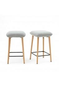 Set 2 scaune de bar Jimi La Redoute Interieurs GFB078 gri