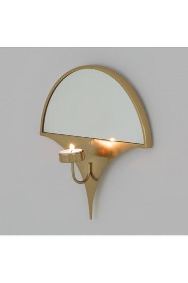 Oglinda cu suport lumanare Fani La Redoute Interieurs GFB206 auriu