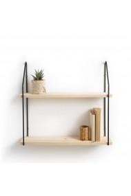 Etajera dubla de lemn Vinto La Redoute Interieurs GFB251 negru