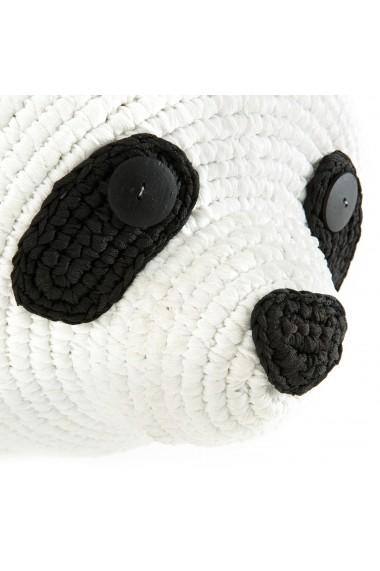 Decoratiune de perete in forma de cap de urs panda Lapili AM.PM GFB969 negru
