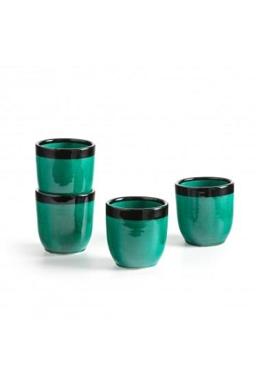 Set 4 cesti de cafea Tizinite La Redoute Interieurs GFC140 verde