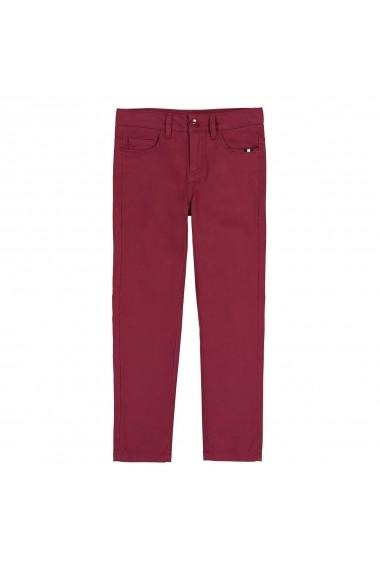 Pantaloni skinny La Redoute Collections GFC247 bordo