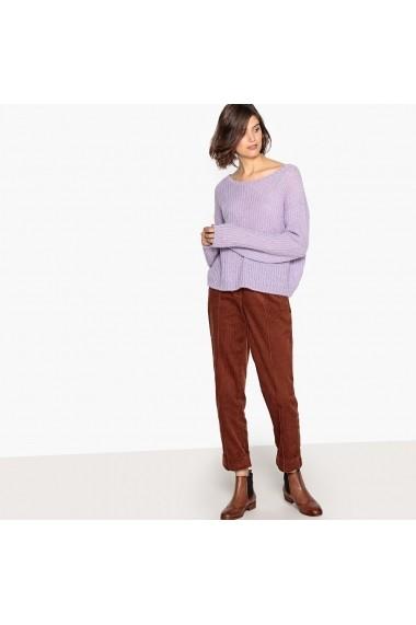 Pantaloni drepti La Redoute Collections GFD309 maro