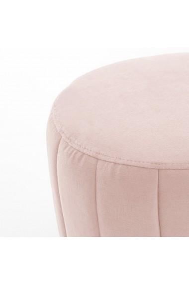 Bancheta din catifea Leone La Redoute Interieurs GFD340 roz