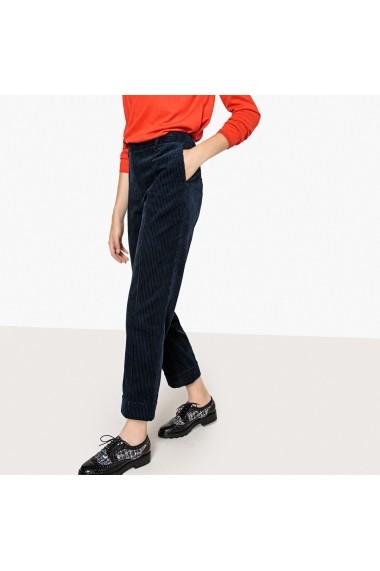 Pantaloni largi La Redoute Collections GFE479 bleumarin - els