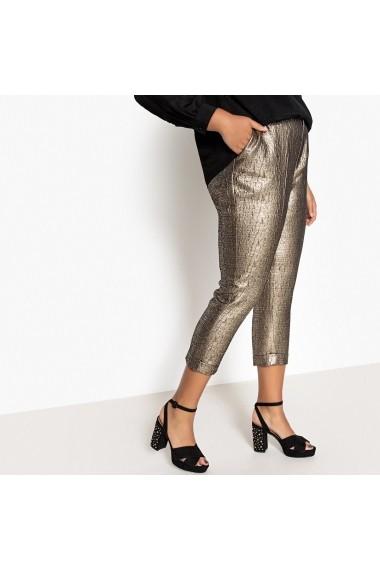 Pantaloni drepti CASTALUNA GFE693 auriu