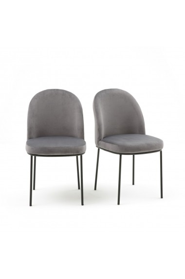 Set 2 scaune Topim La Redoute Interieurs GFE861 gri
