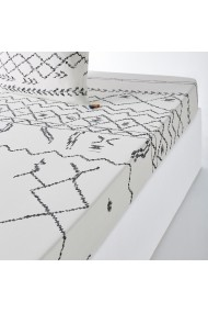 Cearsaf Afro Craft La Redoute Interieurs GFE905 180x200 cm alb