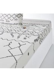 Cearsaf Afro Craft La Redoute Interieurs GFE905 90x190 cm alb