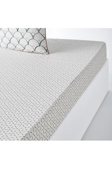 Cearsaf elastic Elka La Redoute Interieurs GFE915 140x190 cm multicolor
