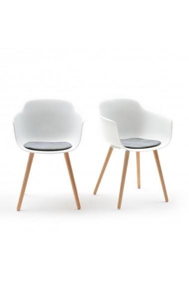 Set 2 scaune cu brate Wapong La Redoute Interieurs GFG824 alb
