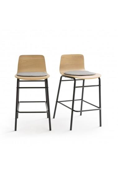 Set 2 scaune de bar Blutante La Redoute Interieurs GFH246 maro