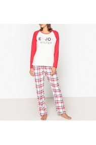 Pijama La Redoute Collections GFH878 alb