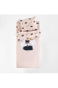 Set de pat Cat Opera La Redoute Interieurs GFI989 90x140 cm roz