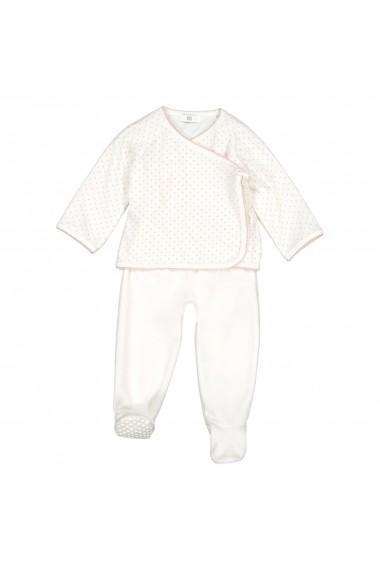 Set 2 pijamale La Redoute Collections GFJ646 ecru