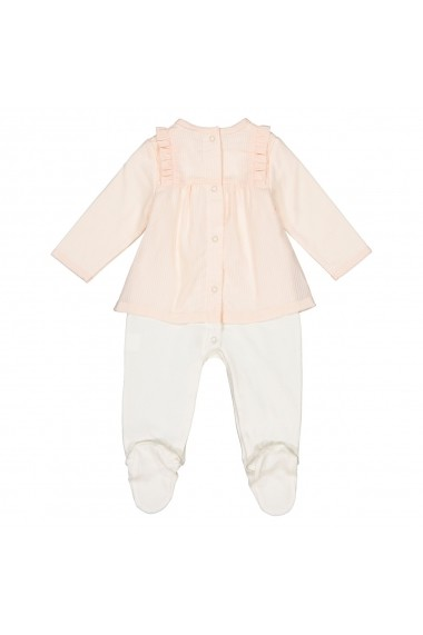 Pijama tip salopeta La Redoute Collections GFJ648 roz