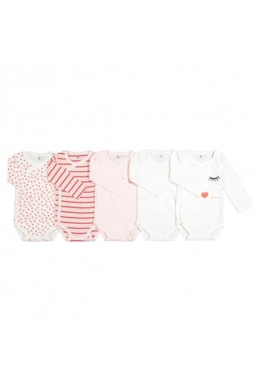 Set 5 body-uri La Redoute Collections GFJ651 roz