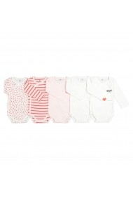 Set 5 body-uri La Redoute Collections GFJ651 roz
