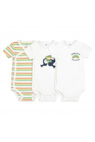 Set 3 body-uri La Redoute Collections GFK074 alb - els