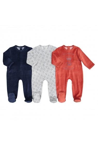 Set 3 pijamale La Redoute Collections GFK113 maro
