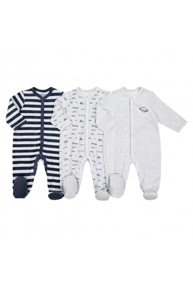 Set 3 pijamale La Redoute Collections GFK123 gri