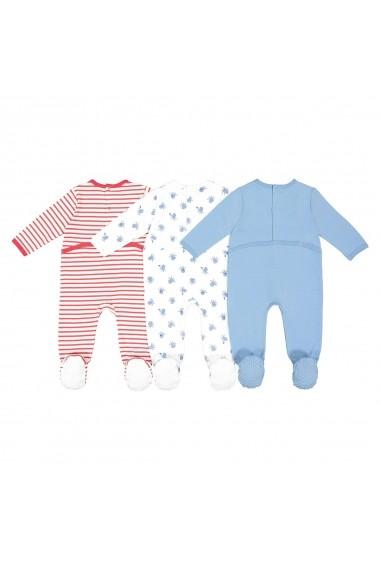 Set 3 pijamale La Redoute Collections GFK124 albastru