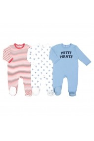 Set 3 pijamale La Redoute Collections GFK124 albastru