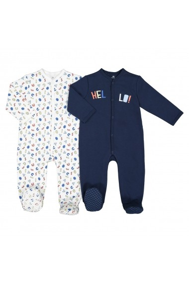 Set 2 pijamale La Redoute Collections GFK135 bleumarin