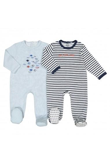 Set 2 pijamale La Redoute Collections GFK147 albastru