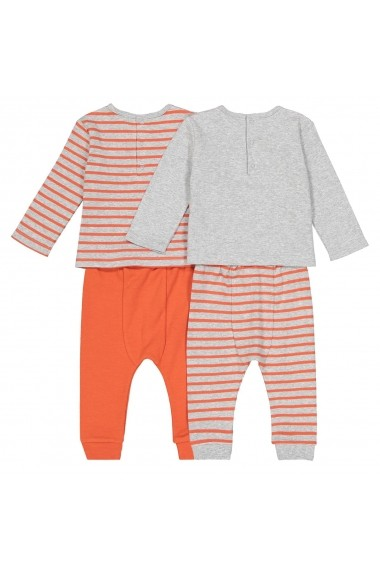 Set 2 pijamale La Redoute Collections GFK149 portocaliu