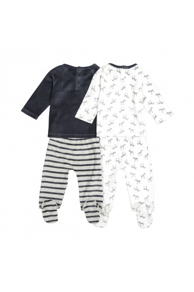 Set 2 pijamale La Redoute Collections GFK151 gri