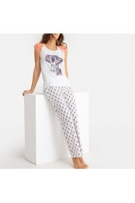 Pijama La Redoute Collections GFK833 alb