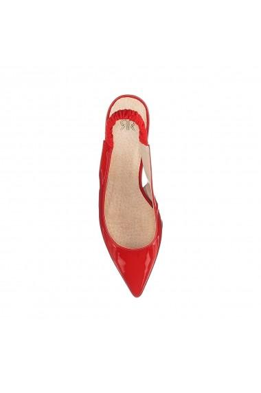 Pantofi cu toc La Redoute Collections GFK861 rosu