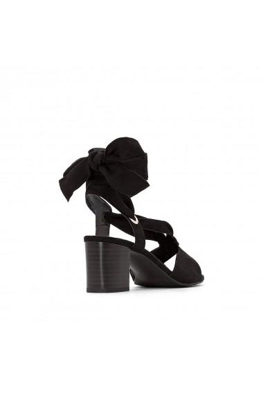 Sandale cu toc La Redoute Collections GFL014 negru