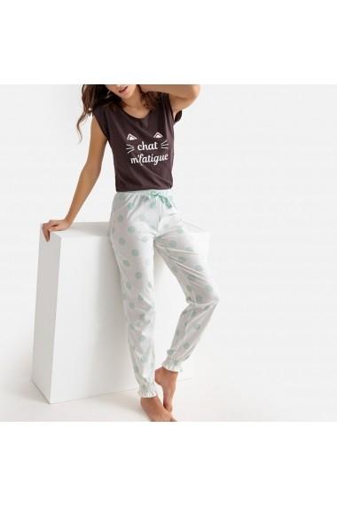 Pijama La Redoute Collections GFL954 negru