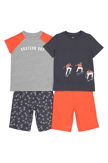 Set 2 pijamale La Redoute Collections GFM583 gri
