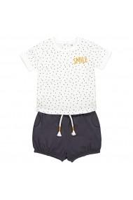 Set tricou si pantaloni scurti La Redoute Collections GFN320 alb