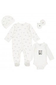 Set body, pijama, caciula si manusi La Redoute Collections GFN327 print