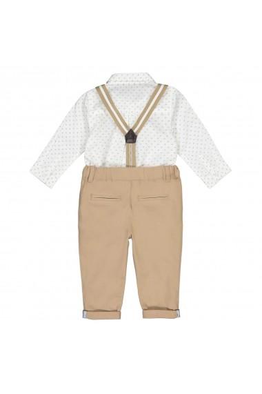 Set camasa, pantaloni si papion La Redoute Collections GFN437 bej