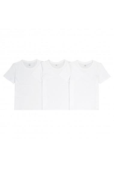 Set 3 tricouri La Redoute Collections GFN643 alb